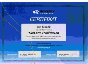 coaching certificate fronek